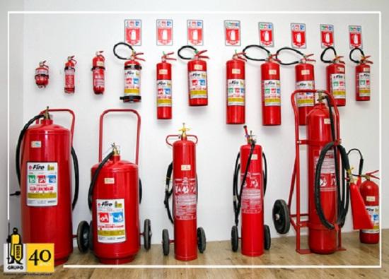 Tipos de extintores e seu funcionamento