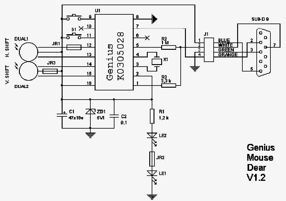 Typical Mouse Circuit ~ Electronic Freaks