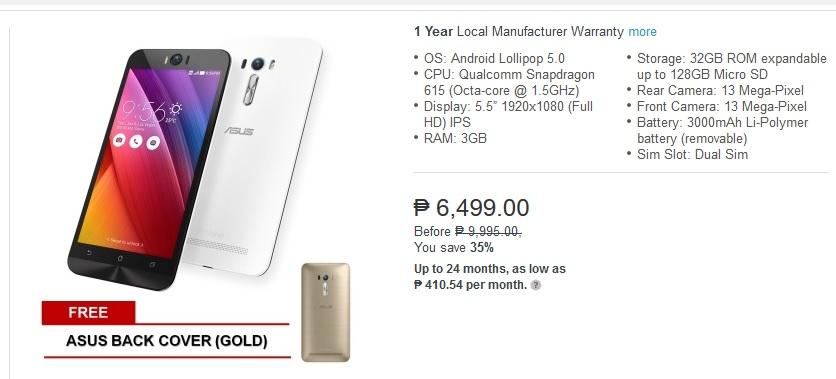 wholesale dealer 53789 ca4b2 DEAL ALERT: Asus ZenFone Selfie now Only Php6,499 on Lazada ...