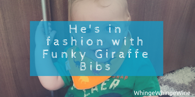 He's in fashion with Funky Giraffe Bibs review