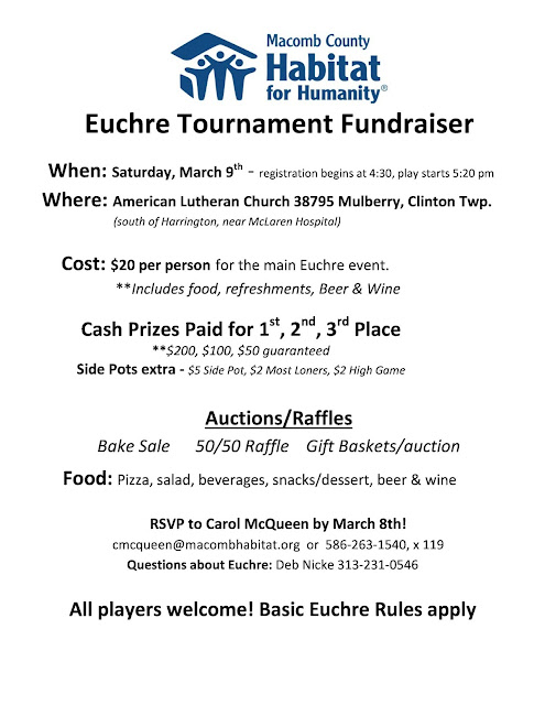 Euchre Tournament MI