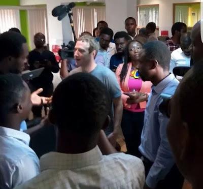 Mark Zuckerberg in CC Hub, Lagos Nigeria