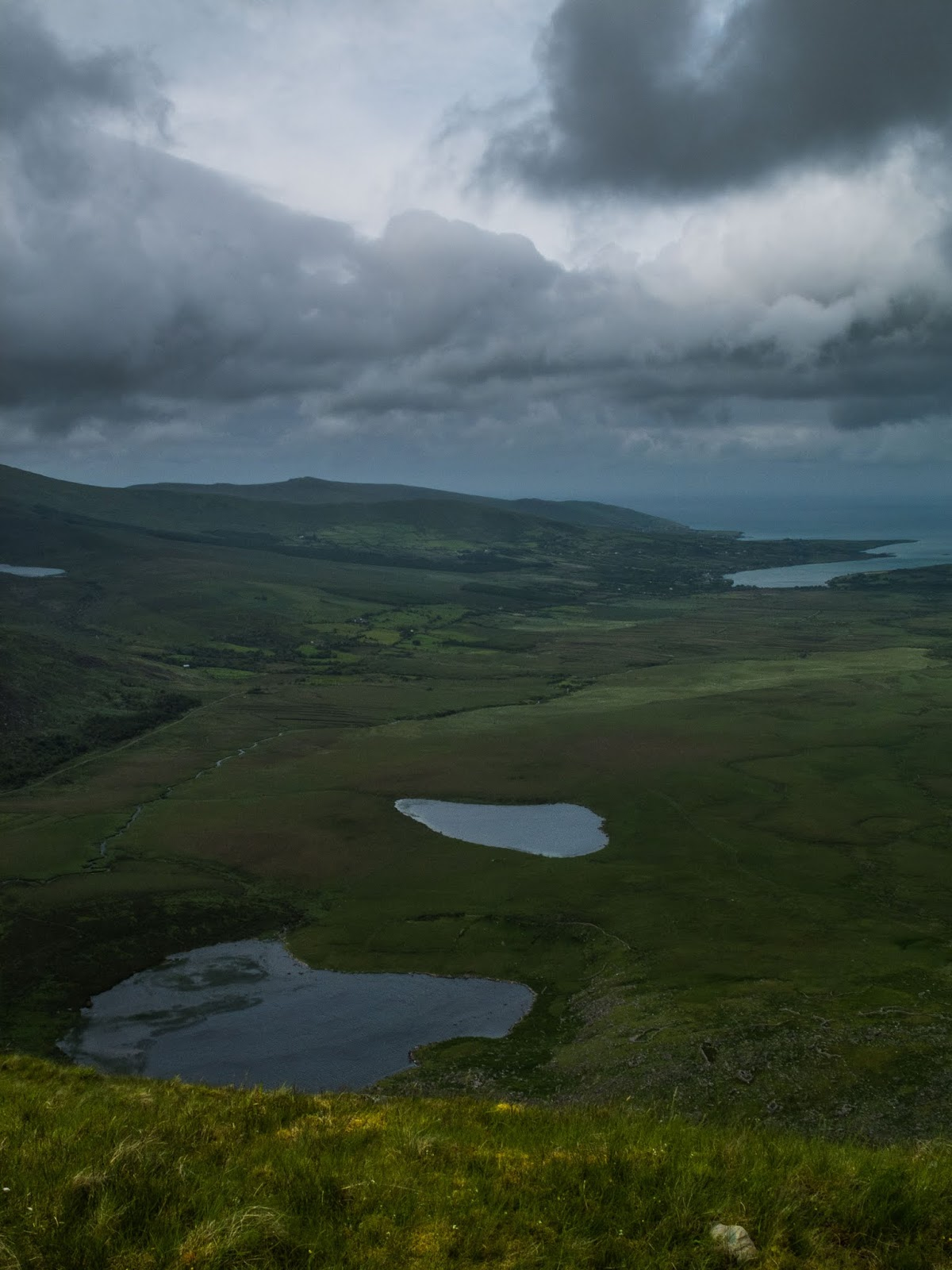 View of the North Atlantic Ocean from the Conor Pass in County Kerry.