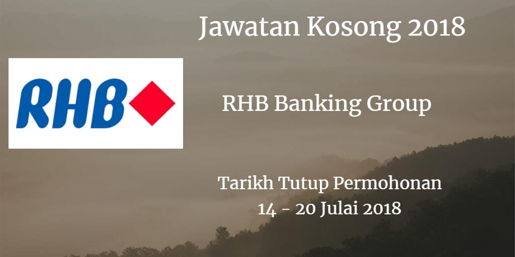 Jawatan Kosong RHB Banking Group 14 - 20 Julai 2018