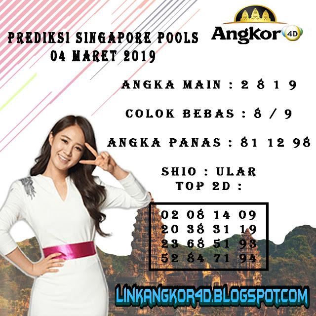 PREDIKSI SINGAPORE POOLS 04 MARET 2019