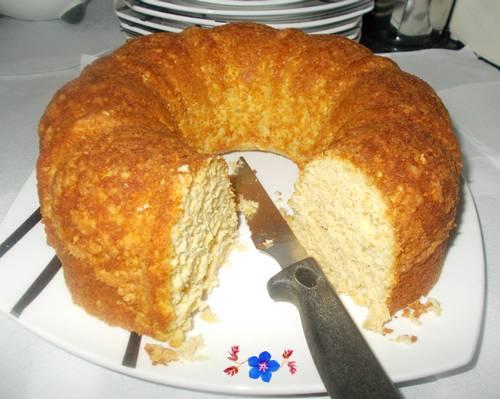 Receita de bolo salgado de aveia com grão de bico light
