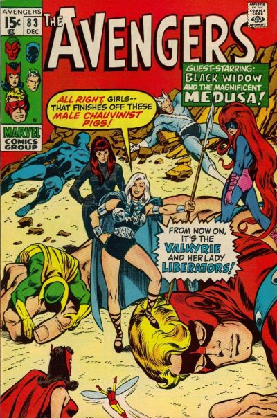 Avengers #83, the Valkyrie and the Lady Liberators