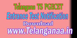 Telangana TS PGECET TSPGECET Notification Download