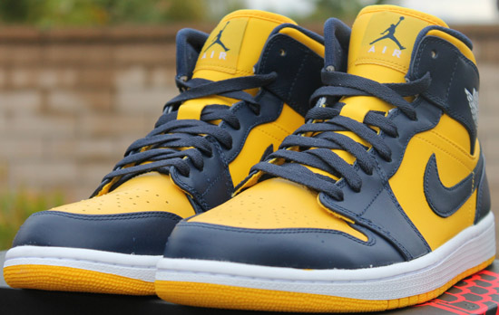 c72105cb ... discount air jordan 1 retro mid marquette varsity maize midnight navy  white available early on ebay