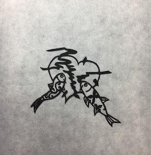 心のドクターフィッシュ(影織切り絵)