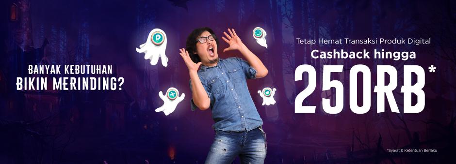 Tokopedia - Promo Cashback 250Ribu Produk Digital (25 - 28 Okt 2018)