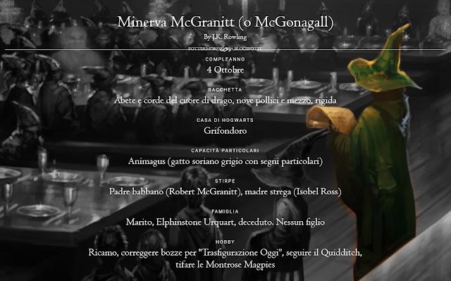 Scheda di Minerva McGranitt