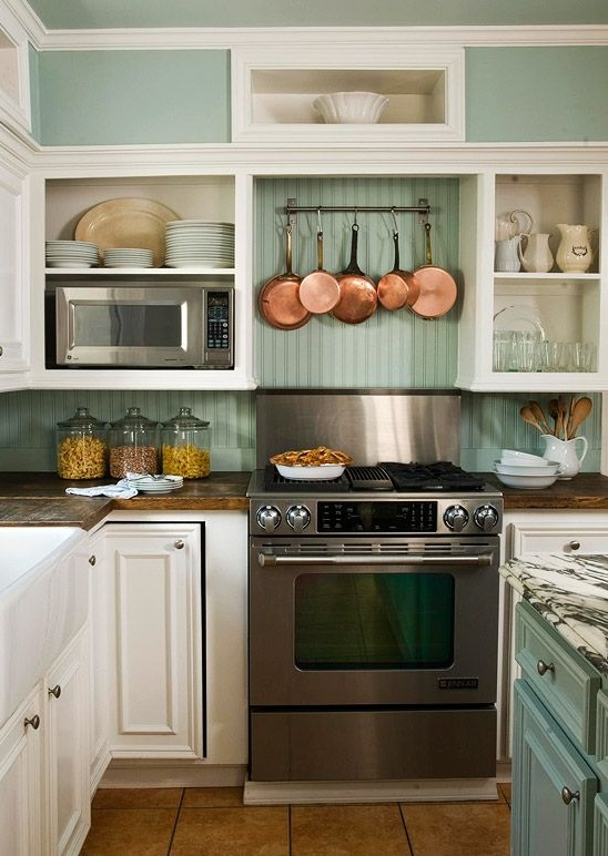 Sweet Inspired Home: Copper And Mint Kitchen Inspiration