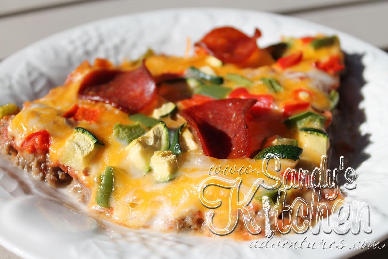 Dough Meat Crust Pizza Sandy Kitchen