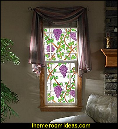 Napa Stained Glass See-Through Window Film  tuscan theme decorating ideas