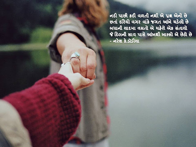 नदी पाछी कदी वळती नथी ए प्रश्न एनो छे Gujarati Muktak By Naresh K. Dodia