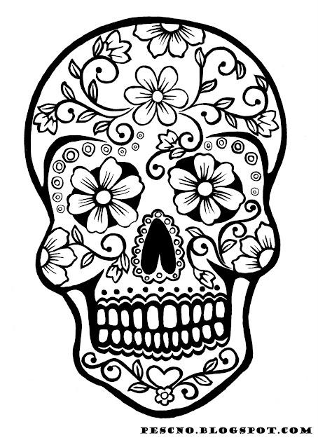 Sugar Skull Coloring Pages  Tryk Billedet For En Stor Udgave Og Bare  Print
