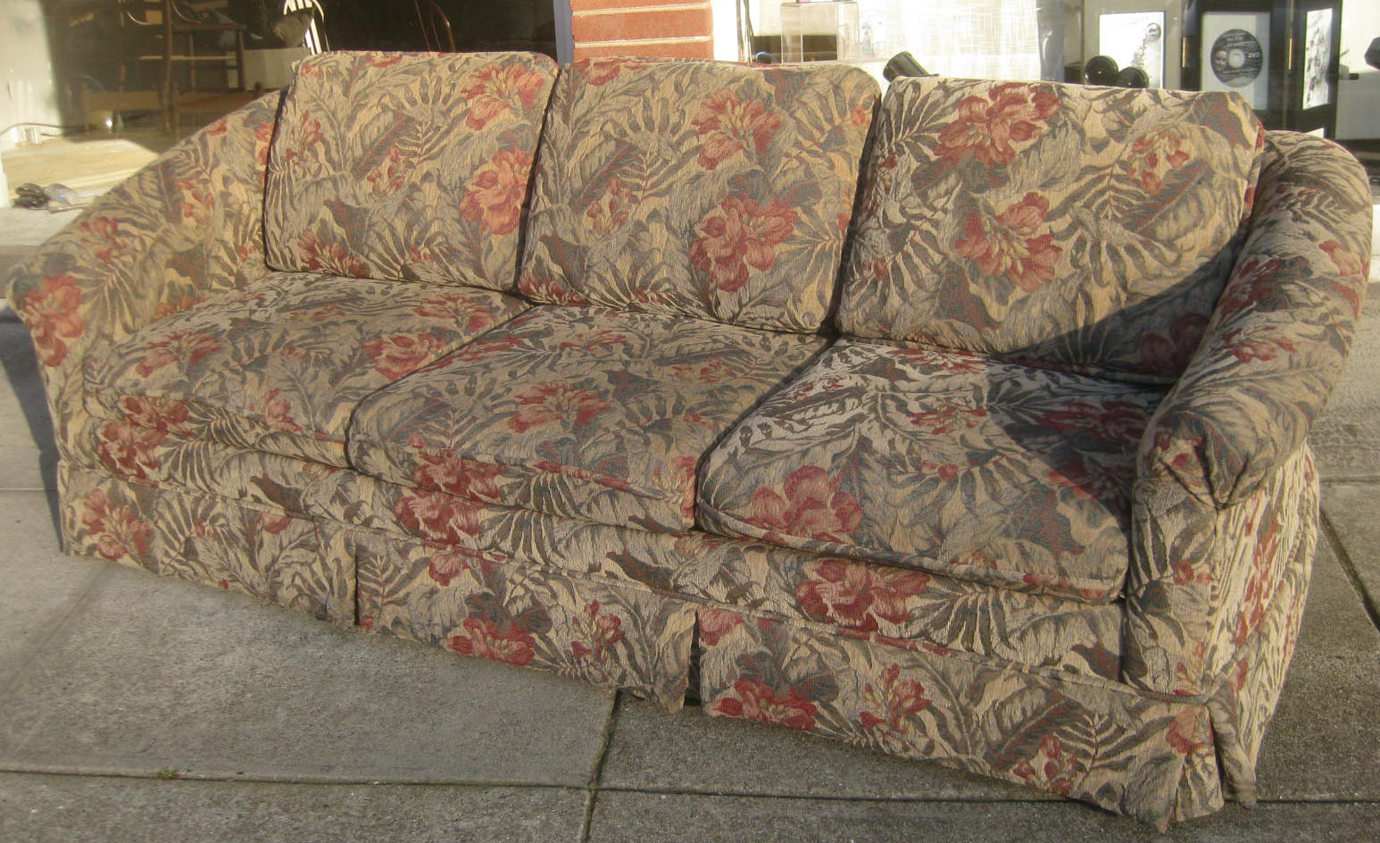 UHURU FURNITURE & COLLECTIBLES: SOLD - Floral Print Sofa - $80