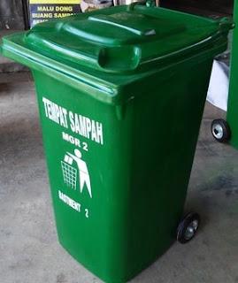 distributor tempat sampah fiber beroda 120 liter