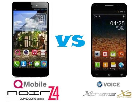 QMobile noir Z4 vs Voice Xtreme X5 Specs and Price Comparison