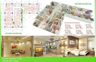 Mặt bằng chung cư mini Thượng Đình - Thanh Xuân