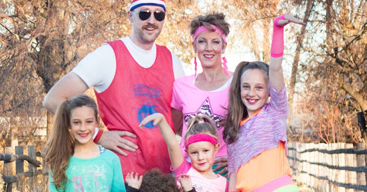 Family 80s Workout Halloween Costume