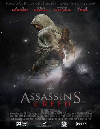 Poster Of Assassin's Creed 2016 Hindi Dual Audio 500MB HC HDRip 720p HEVC Free Download Watch Online downloadhub.in