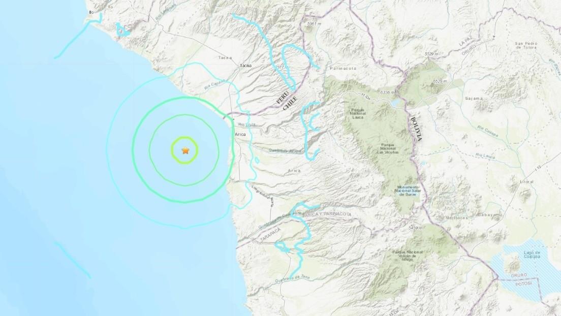 URGENTE: #Sismo de magnitud 6,0 sacude #Arica de #Chile según USGS