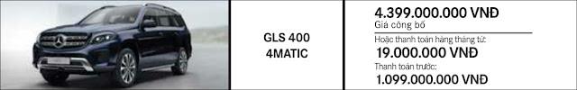 Giá xe Mercedes GLS 400 4MATIC 2018 tại Mercedes Trường Chinh