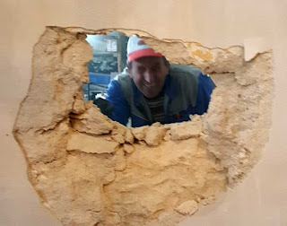 Bekir just bashed a hole in the wall
