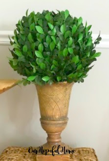 faux boxwood topiary urn planter