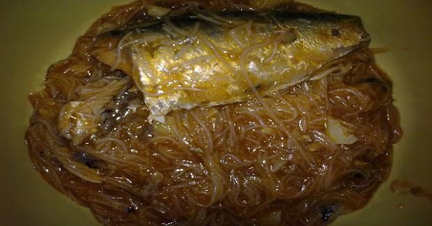 Sardinas Na May Miswa Recipe