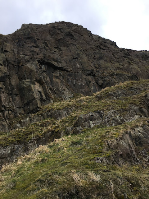 Rock face, Arthur's Seat, Edinburgh