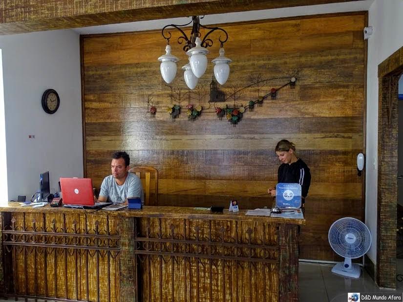 Recepção da Pousada Solar das Gerais: hospedagem em Tiradentes