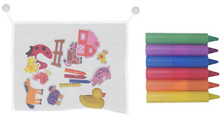Product Review: Bath Toy Net Organizer Bag & Crayons
