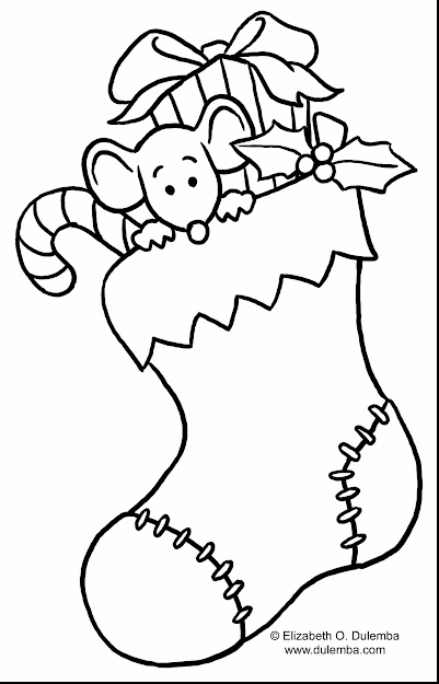 Impressive Christmas Stocking Coloring Page With Christmas Tree Coloring  Pages Printable And Christmas Tree Coloring Pages