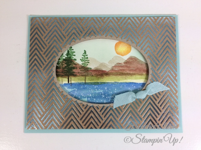 Frenchie' Team, Waterfront, Stampin'Up!, Foil Frenzy Designer paper,