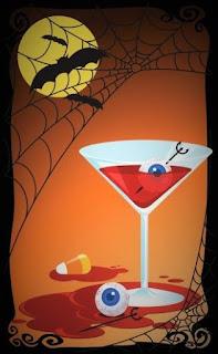 Jus sanglant aux yeux globuleux Halloween