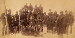 group of buffalo soldiers