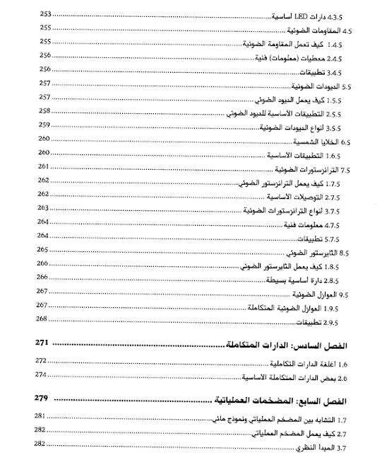 محتويات كتاب الالكترونيات العملية للمبتكرين 6