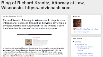 Richard Kranitz, business coach and lawyer in Grafton, Wisconsin