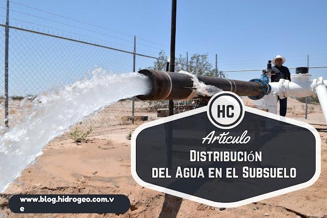 Distribución del agua en el Subsuelo