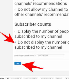 YouTube channel subscribers hide kaise kare 3