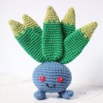https://knittycatcrochet.wordpress.com/2017/08/15/oddish-amigurumi-pattern/