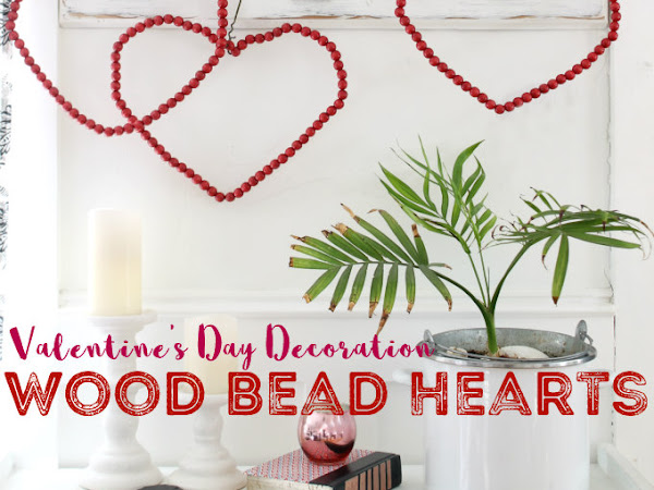 Valentine's Day Decoration - Wood Bead Hearts