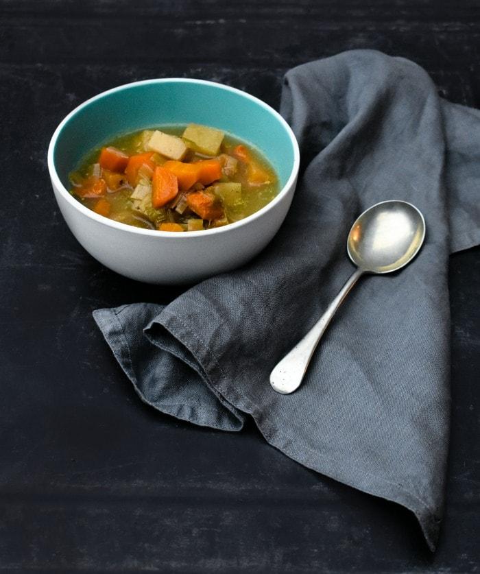 Bowl of Scottish Slow Cooker Vegetable Soup