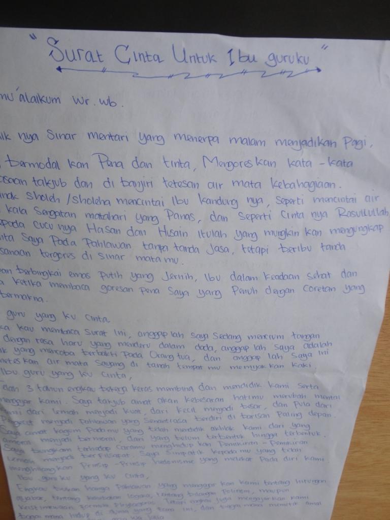 Surat Cinta Untuk Guruku Tersayang Suratmenyuratnet