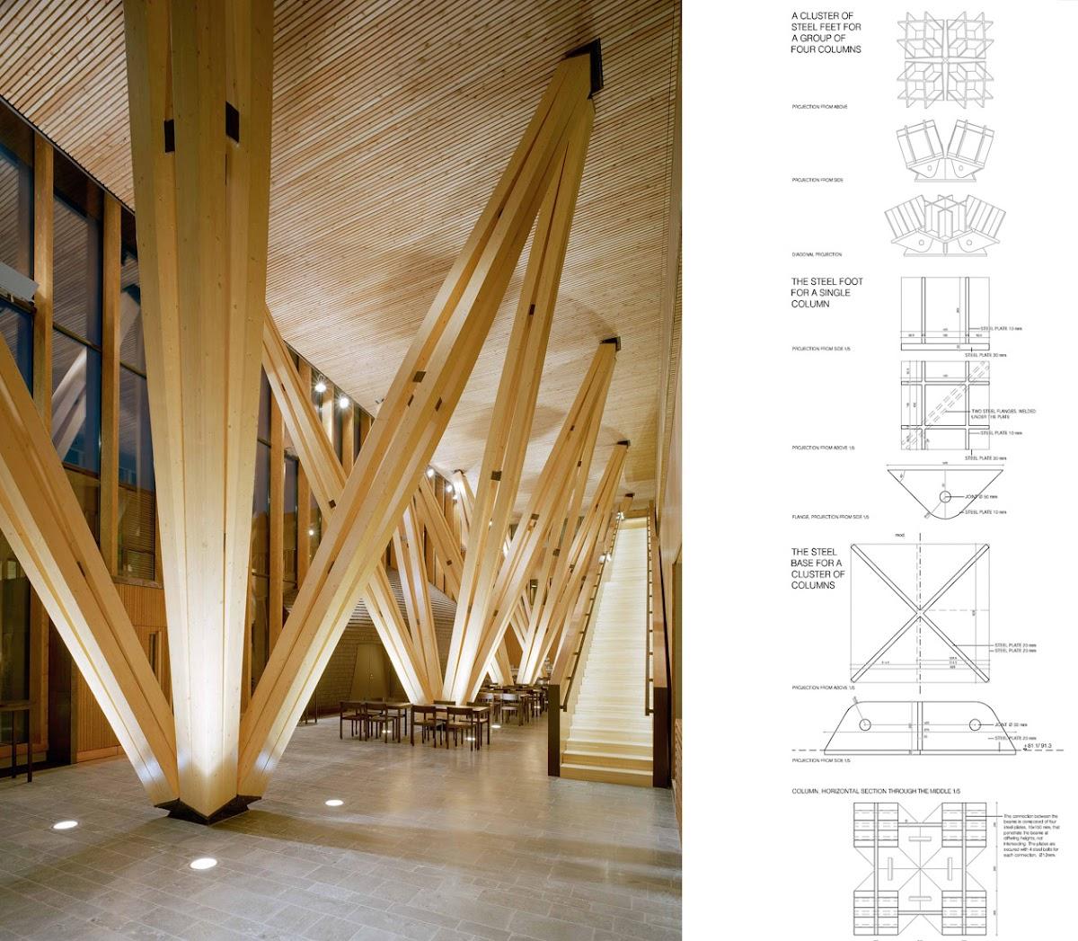Una caja de madera finlandesa para la investigaci n - Estructura de madera laminada ...