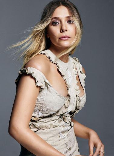 elizabeth olsen models photo shoot elle magazine canada