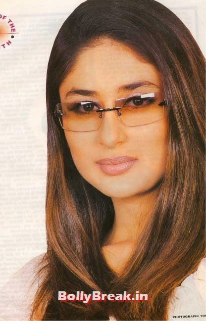 Kareena kapoor with glasses, Hot Unseen Pics of Kareena Kapoor from Early Days of her Career